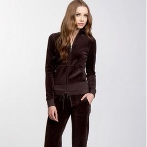 Juicy Couture Velour Sequin Crown Jacket